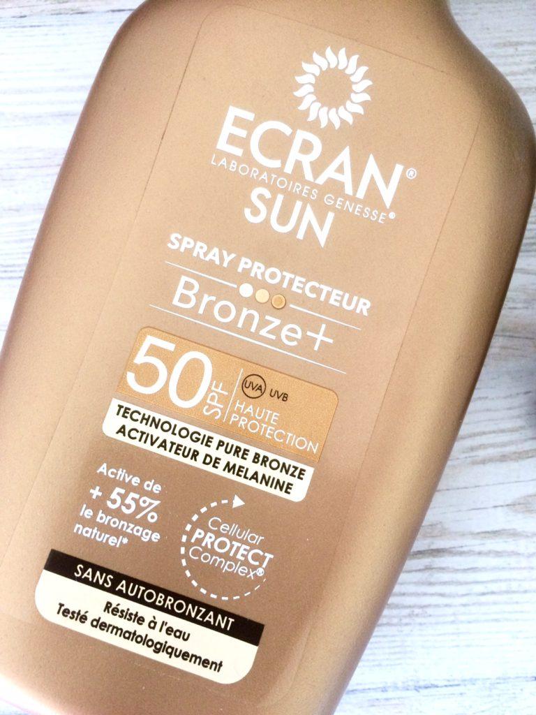Ecran Sun spray solaire bronzant