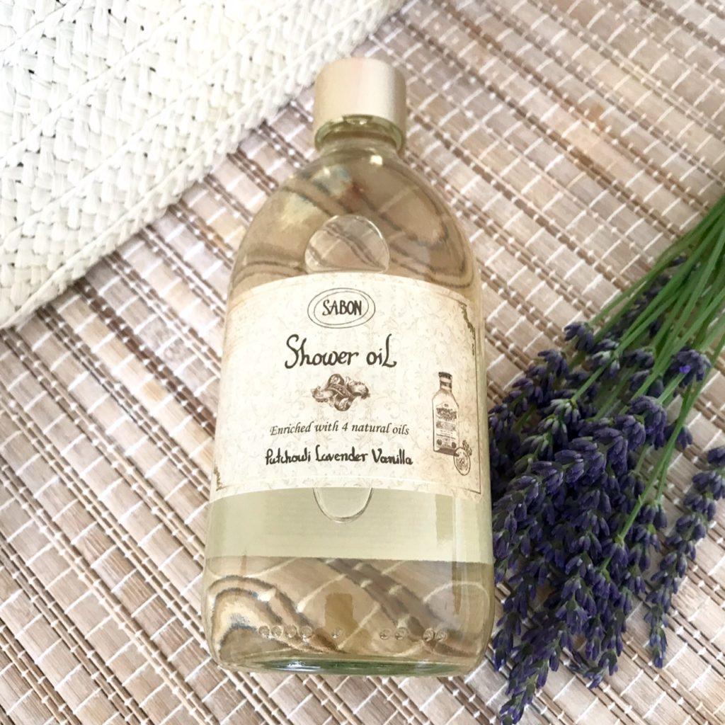 huile de douche vanille lavande Sabon