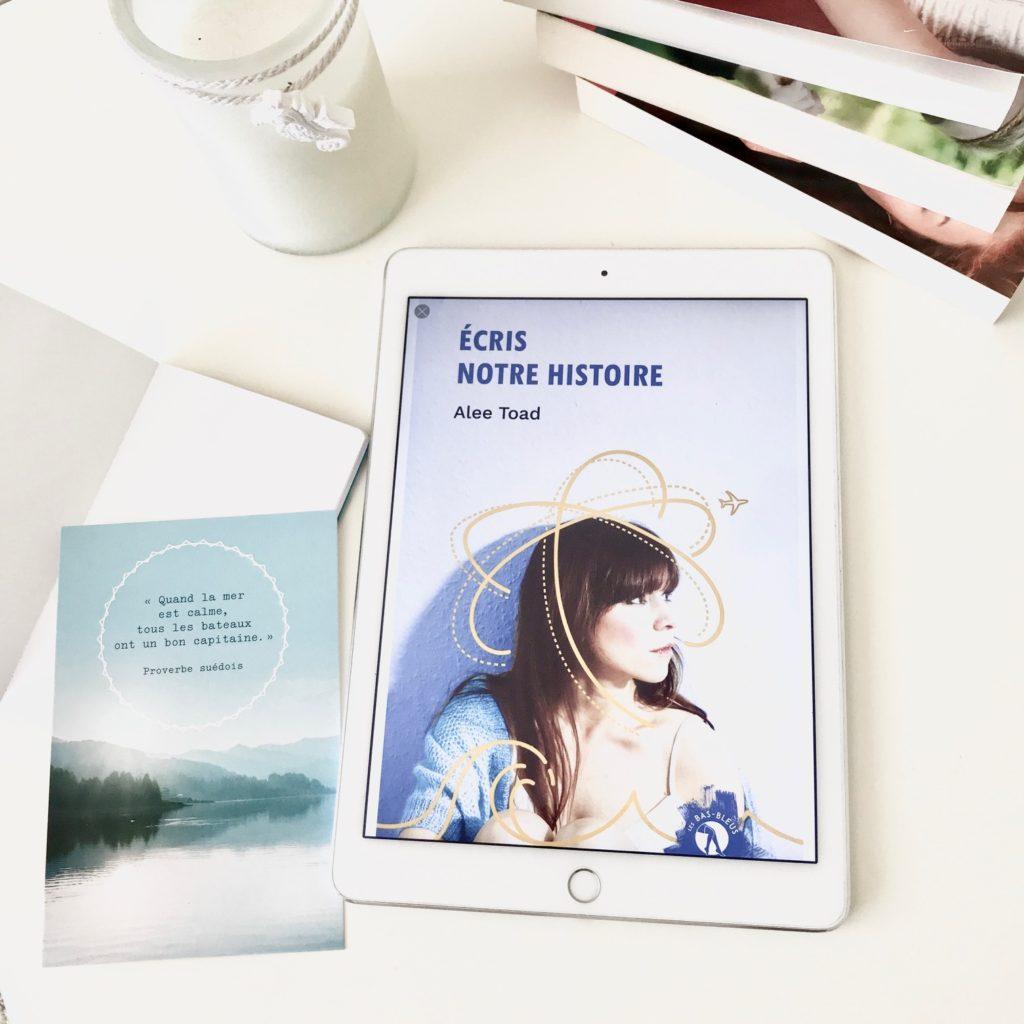 Ecris notre histoire Alee Toad roman Les Bas Bleus