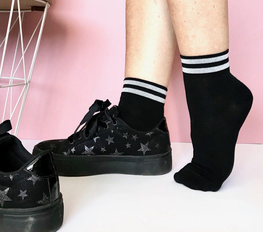 bleuforêt chaussettes noires et argent