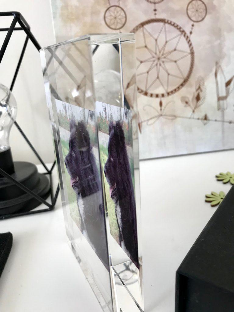 cadre photo personnalisé en verre