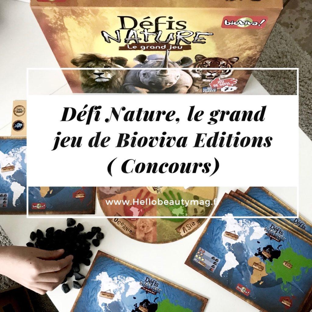 Défi Nature Bioviva Editions jeu de société animalier